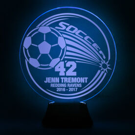 Soccer Acrylic LED Lamp Corner Kick With 3 Lines and Number
