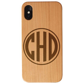 Personalized Engraved Wood IPhone® Case - Circle Monogram