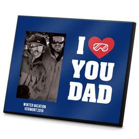 Snowboarding Photo Frame I Heart You Dad Snowboard