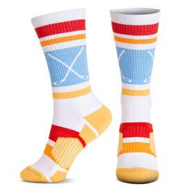 Hockey Woven Mid-Calf Socks - Laguna