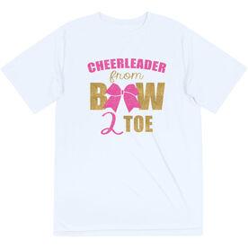 Cheerleading Short Sleeve Performance Tee - Cheerleader From Bow 2 Toe