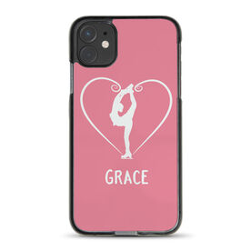 Figure Skating iPhone® Case - Personalized Heart Skater