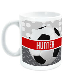 Soccer Coffee Mug Personalized 2 Tier Patterns with Ball