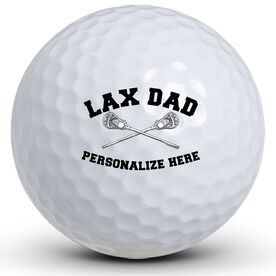 Crossed Sticks LAX Dad Golf Balls