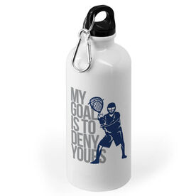 Guys Lacrosse 20 oz. Stainless Steel Water Bottle - My Goal Is To Deny Yours Goalie