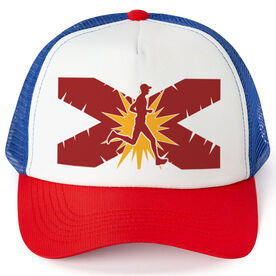 Running Trucker Hat - Florida Flag Male Runner