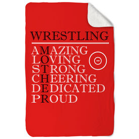 Wrestling Sherpa Fleece Blanket - Mother Words
