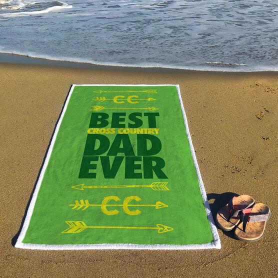 Cross Country Premium Beach Towel - Best Dad Ever