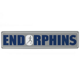 "Running Aluminum Room Sign - Endorphins Guy (4""x18"")"
