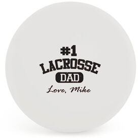 Personalized Lacrosse Dad (Block Logo) LAX Ball (White Ball)