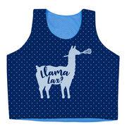 Girls Lacrosse Racerback Pinnie - Llama Lax
