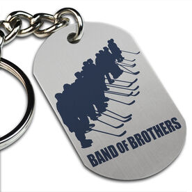 Band Of Brothers Hockey Printed Dog Tag Keychain