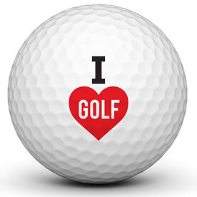 I Love Golf Golf Ball