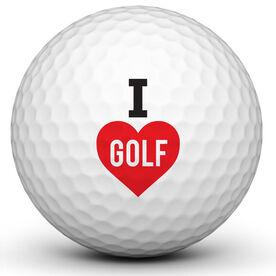 I Love Golf Golf Ball