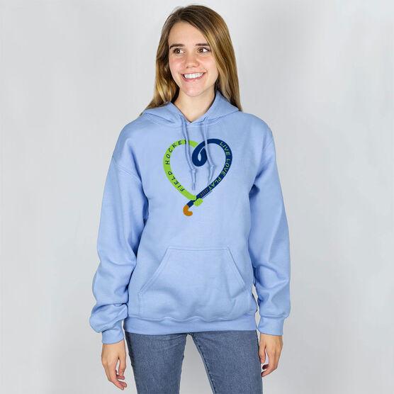 Field Hockey Hooded Sweatshirt - Live Love Play Field Hockey