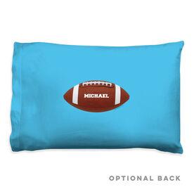 Football Pillowcase - Personalized Football Image Horizontal