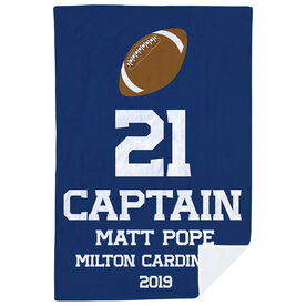 Football Premium Blanket - Personalized Captain