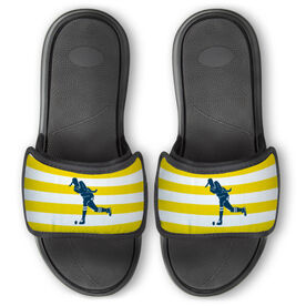 Field Hockey Repwell® Slide Sandals - Stripes with Silhouette