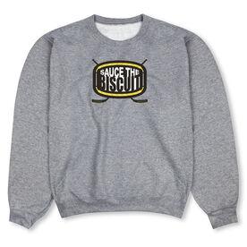 Hockey Crew Neck Sweatshirt - Sauce The Biscuit