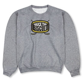 Hockey Crew Neck Sweatshirt - Sauce The Biscuit
