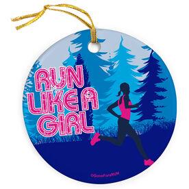 Running Porcelain Ornament Run Like a Girl