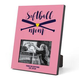 Softball Photo Frame - Softball Mom With Crossed Bats