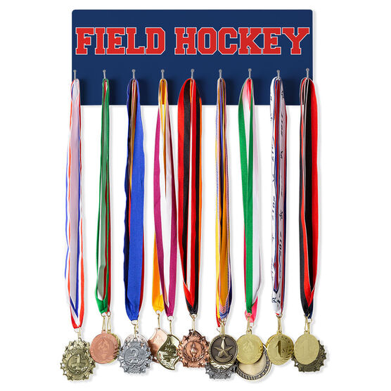 Field Hockey Hooked on Medals Hanger - Word