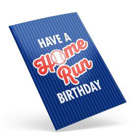 Baseball Birthday Greeting Card - Home Run