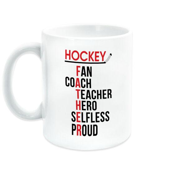 Hockey Coffee Mug - Hockey Father Words