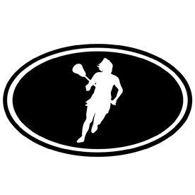 Lacrosse Girl Silhouette Vinyl Decal