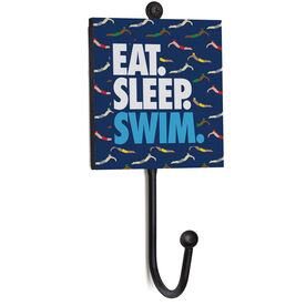 Swimming Medal Hook - Eat. Sleep. Swim. Male Swimmers.