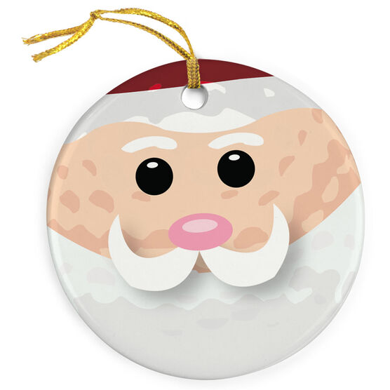 Golf Porcelain Ornament Santa Ball