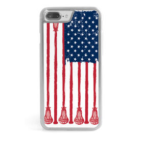 Guys Lacrosse iPhone® Case - American Flag