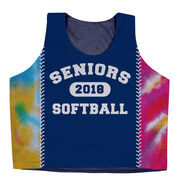 Softball Racerback Pinnie - Tie-Dye Personalized Seniors