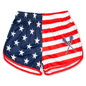USA Flag Lacrosse Shorts