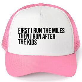 Running Trucker Hat - Then I Run After The Kids