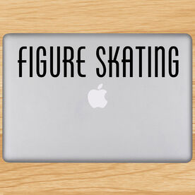 Figure Skating Written Out Removable ChalkTalkGraphix Laptop Decal