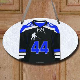 Hockey Oval Sign Personalized Hockey Jersey
