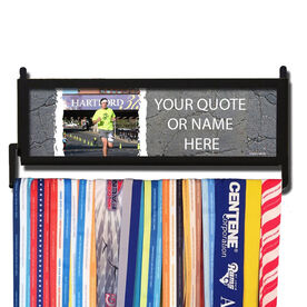 RunnersWALL Personalized Your Photo with Road Pattern Medal Display