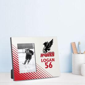 Hockey Photo Frame - Greater Lowell Hawks Hockey Logo