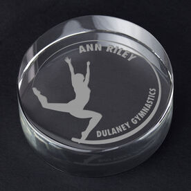 Gymnastics Personalized Engraved Crystal Gift - Customized Freestyle (Female)