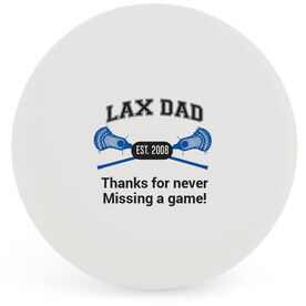 Personalized Crossed Sticks LAX Dad Lacrosse Ball (White Ball)