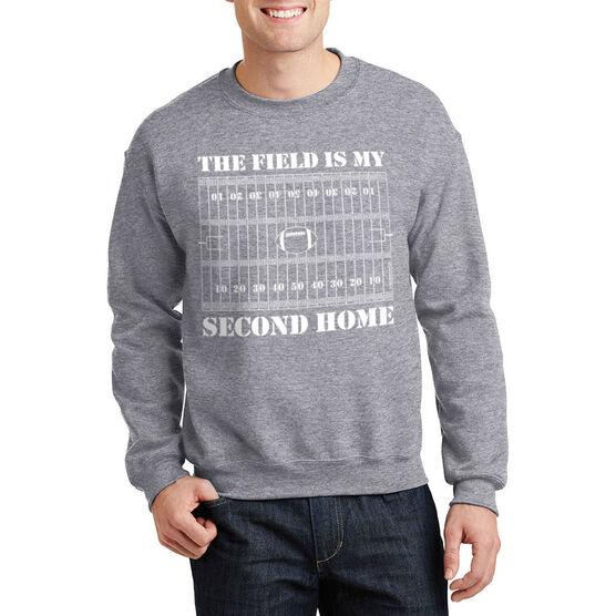 Football Crew Neck Sweatshirt - The Field Is My Second Home