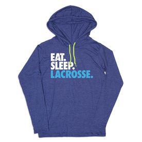 Guys Lacrosse Lightweight Hoodie - Eat Sleep Lacrosse