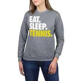 Tennis Crew Neck Sweatshirt - Eat Sleep Tennis (Bold)