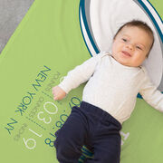 Rugby Baby Blanket - Birth Announcement