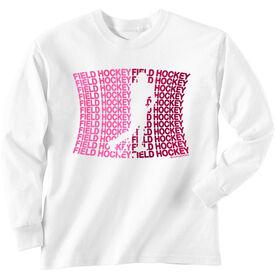 Field Hockey Tshirt Long Sleeve All Field Hockey