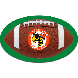 Personalized Football with Custom Logo Oval Car Magnet