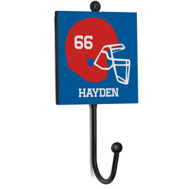 Football Medal Hook - Helmet With Name And Number