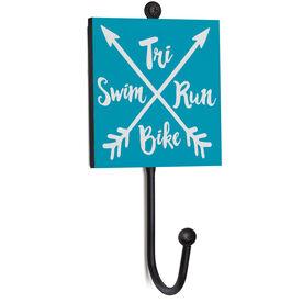 Triathlon Medal Hook - Tri Crossed Arrows